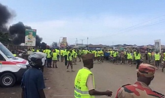 Shots fired amidst protest at Agbogbloshie, Accra.