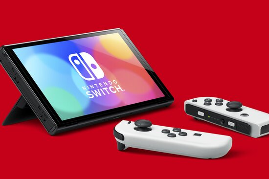 The new Nintendo Switch OLED does not have this.